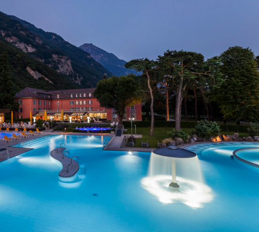 Enjoy the hottest thermal waters of Switzerland ...