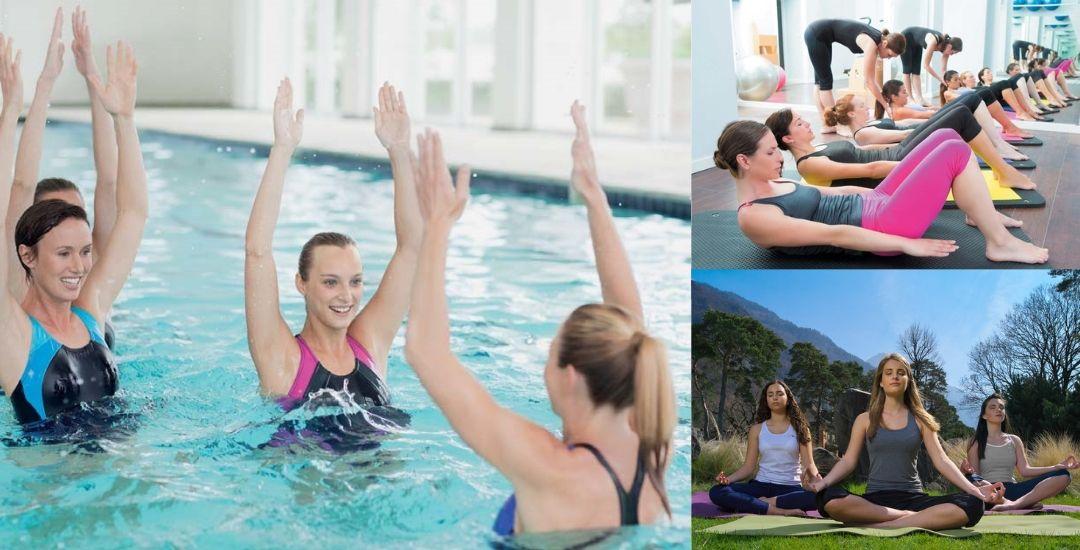 Cours collectifs d'aquagym, yoga et pilates
