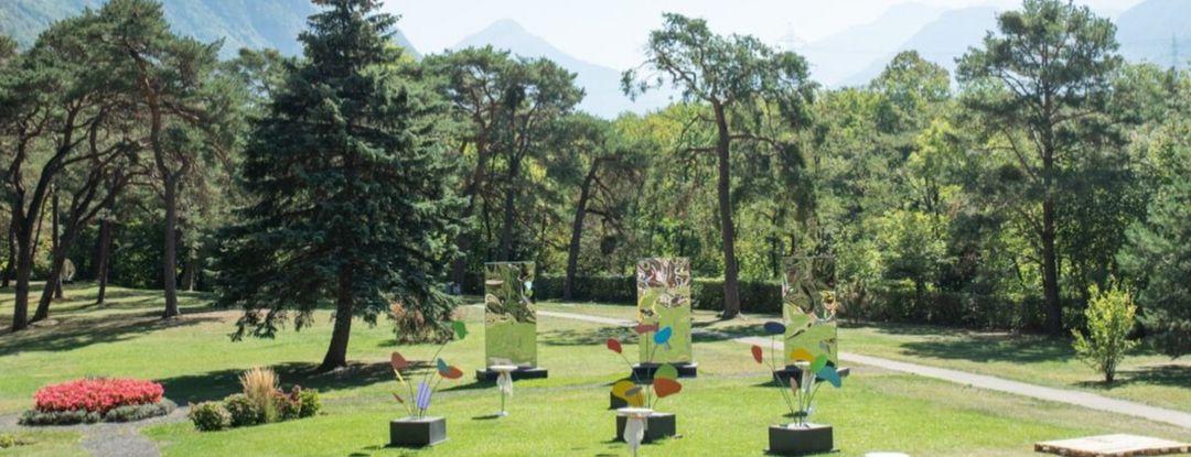Le parc du Grand Hôtel des Bains