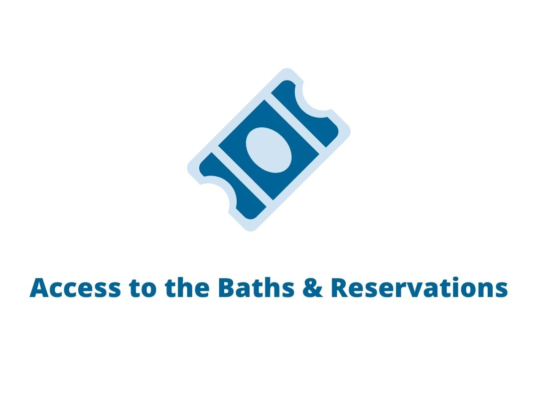 Access to the Baths & Reservations