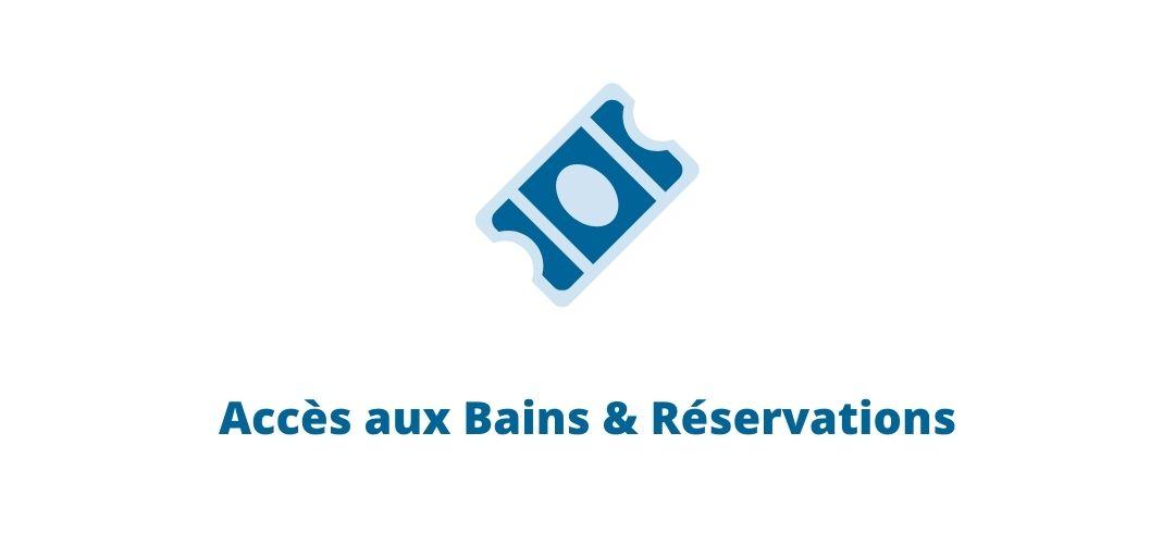 Accès aux Bains & Réservations